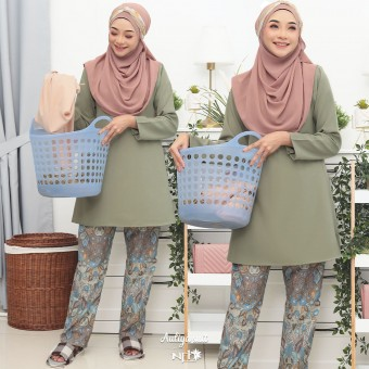 Auliya Suit - Moss Green V1