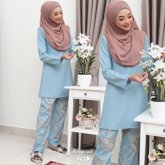 Auliya Suit - Baby Blue