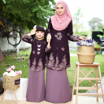 Lily Eid Adha Kids - Dark Purple